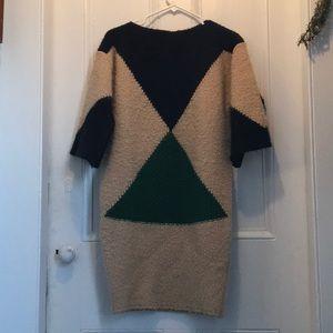 Stella McCartney Color Block Alpaca Sweater Dress